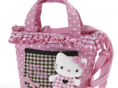 Borsa Shopper Hello Kitty con Tracolla Pink & Brown