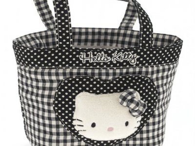 borsa hello kitty shopper M i love you black