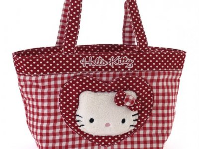 borsa hello kitty shopper M i love you red