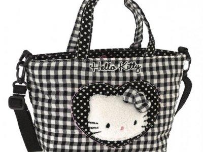 borsa hello kitty shopper S i love you black