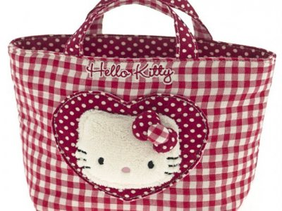 borsa hello kitty shopper S i love you red