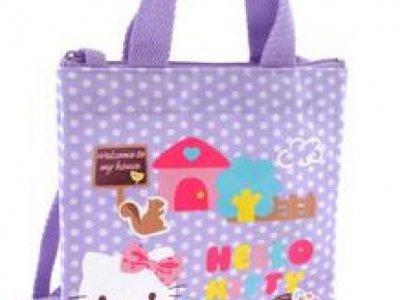 borsa hello kitty shopper XS dotty lilac