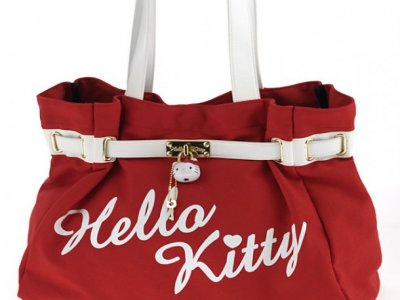 borsa hello kitty shoulder bag rosso bianca