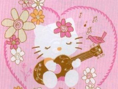 tappeto arredo hello kitty 100x150 con chitarra