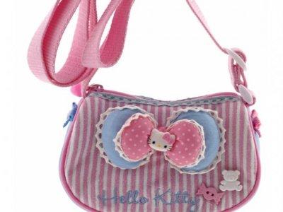 Borsa Hello Kitty Tracollina Ribbon Pink