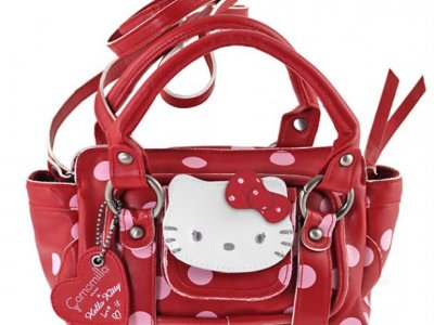 borsa hello kitty rossa tracolla