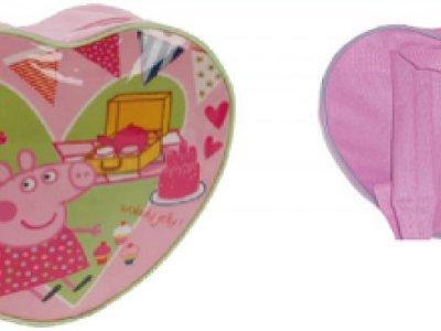 Zainetto a forma di cuore Peppa pig pic-nic