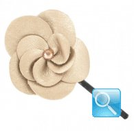 Molletta leather peony ivory