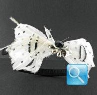 Cerchietto camomilla ballet pois white