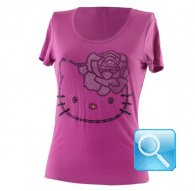 maglia hello kitty t-shirt viola M