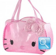 borsa hello kitty beach bag dotty crystal pink