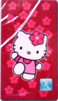 telo mare hello kitty 100X180 fiori