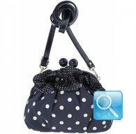 Pochette Clic-clac L Blu w/dots camomilla