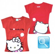 maglia hello kitty t-shirt rossa L