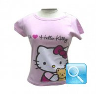 maglia hello kitty t-shirt rosa friend L