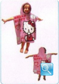 poncho hello kitty rosa cuore