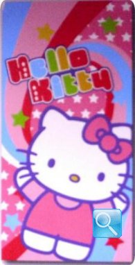 telo mare hello kitty 75x150 arcobaleno