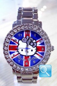 orologio hello kitty  Princess Kitty British Flag with Head Only