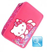 astuccio hello kitty rosa flowers