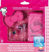 auricolari rosa hello kitty con custodia