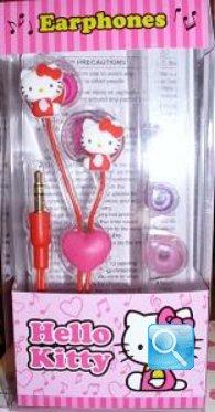 auricolari a forma di hello kitty colore rosso