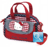 Borsa Bauletto Hello Kitty c-tasca e tracolla red&blue