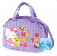 borsa hello kitty bauletto con tracolla dotty lilac