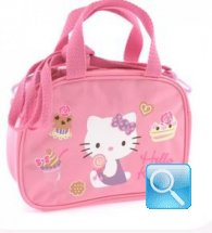 borsa hello kitty bauletto con tracolla pink
