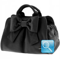 borsa camomilla bauletto m ribbon black