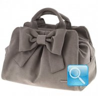 borsa camomilla bauletto m ribbon l.brown