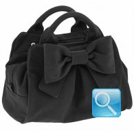 borsa camomilla bauletto s ribbon black