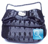 Borsa Shoulder nero Hello Kitty-Camomilla