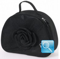 beauty bag fiori e lustrini camomilla milano XL nero