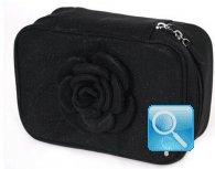 beauty pouch fiori e lustrini camomilla milano M nero
