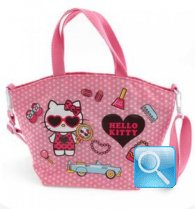 borsa hello kitty a mano c/tracolla dotty d.pink