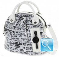 Borsa a mano Pop Art Hello Kitty Bianca
