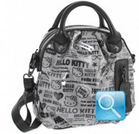 Borsa a mano Pop Art Hello Kitty Nero