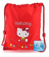 borsa hello kitty a sacchetto L red