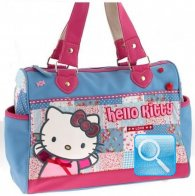 Borsa Bauletto Love Hello Kitty Azzurro