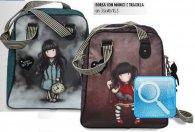 borsa  con manici e tracolla gorjuss stripes cuore nuova collezione 2013
