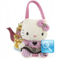 Borsa Peluche Hello Kitty L pink & brown