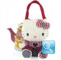 Borsa Peluche Hello Kitty L Red&blu