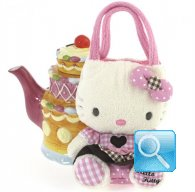 Borsa Peluche Hello Kitty M pink & brown