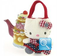 Borsa Peluche Hello Kitty M red&blue