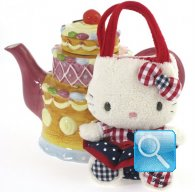 Borsa Peluche Hello Kitty S red&blue