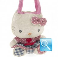borsa hello kitty plush poupette S pink i love you