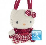 borsa hello kitty plush poupette S red i love you