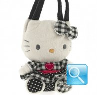 borsa hello kitty plush poupette S black i love you