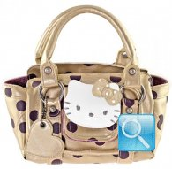 borsa hello kitty gold