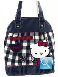 Borsa Round Shopper Campus Hello Kitty L Blue